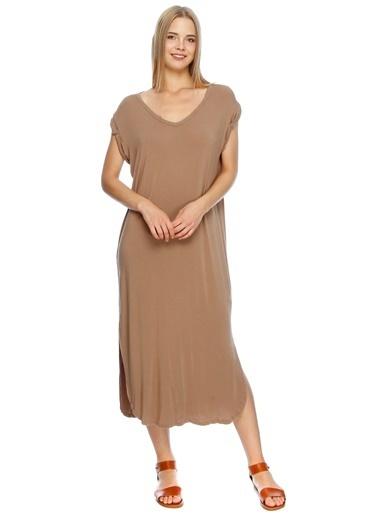 Fridays Project Yırtmaç Detaylı Uzun Elbise Ten